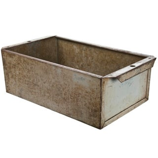 Vintage Industrial Steel Storage Drawer Bin