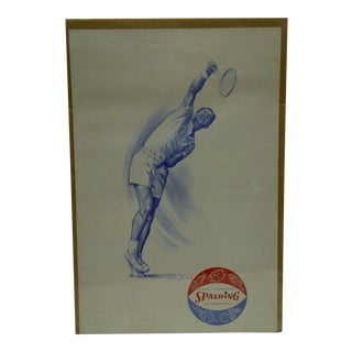 C. 1960 Jack Jewell Spalding Tennis Poster