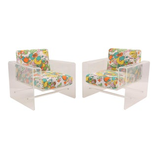 Spiros Zakas Lucite Lounge Chairs - A Pair