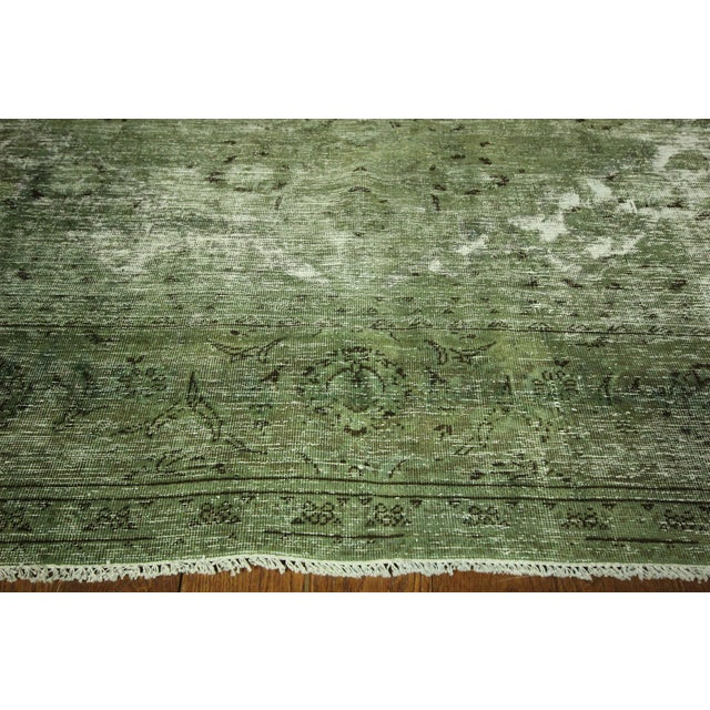 Traditional Green Overdyed Area Rug - 8' x 11' - Image 5 of 10