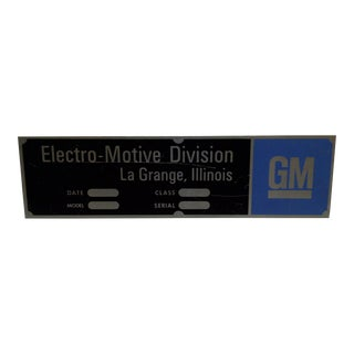 "Vintage ""GM - Electro-Motive Division"" Metal Automobile Sign"