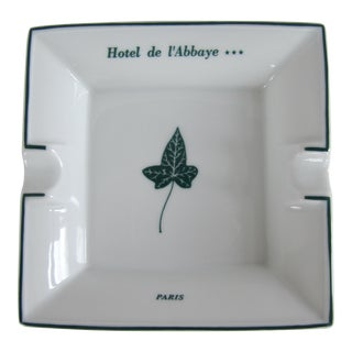 Vintage Hotel De l'Abbaye Paris Haviland Limoges Ashtray