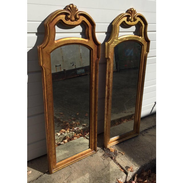 Vintage Gold Mirrors- A Pair - Image 5 of 6