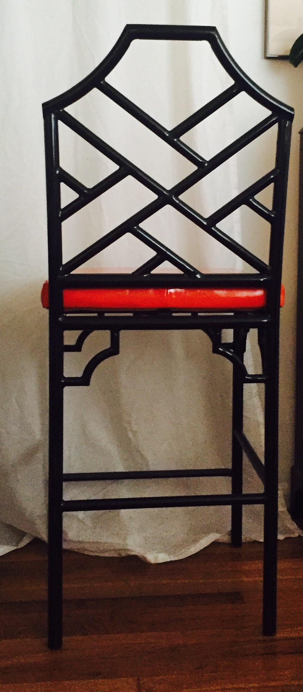 Chinese Chippendale Bar Stools 3 Chairish