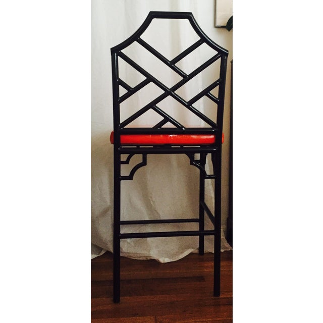 Image of Chinese Chippendale Bar Stools - 3