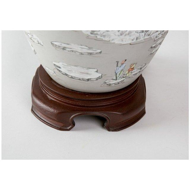 Image of Gray Chinoiserie Lamps- A Pair