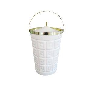 Mid-Century Lustro Ware White Ice Bucket