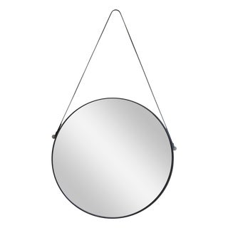 Leather Strap Hanging Mirror