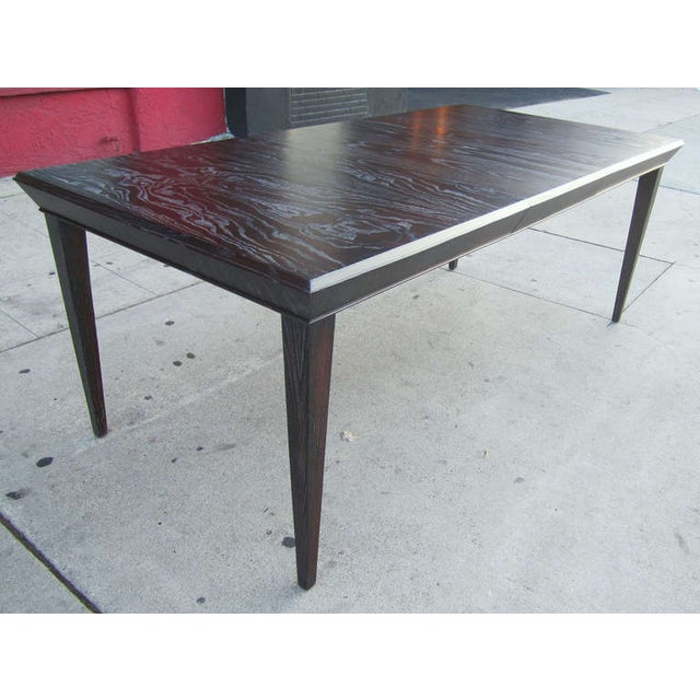 Paul Frankl Vintage Amber Cerused Dining Table - Image 4 of 7