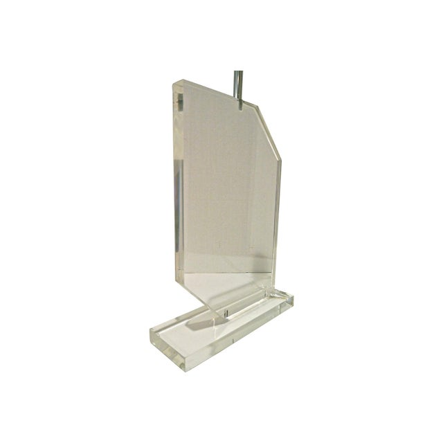 Image of 1970s Springer Style Lucite Lamp