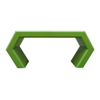 Green Lacquered Hexagonal Console