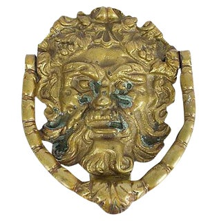 Brass Bacchus Door Knocker