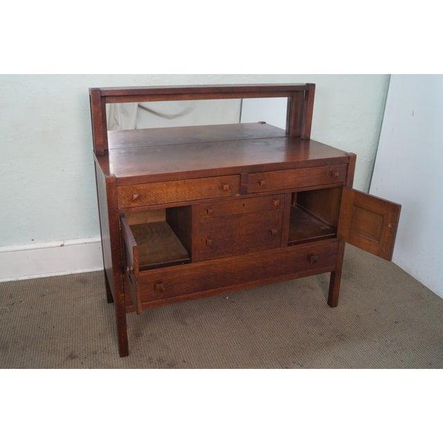 Antique J K Rishel Mission Oak Sideboard Chairish