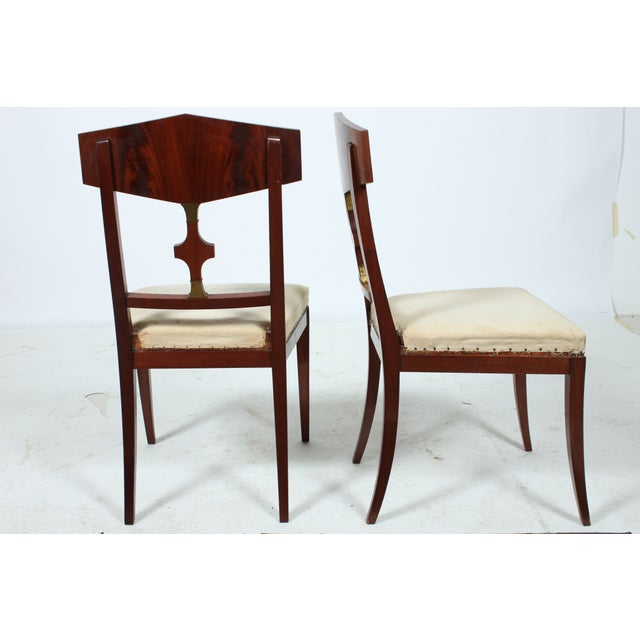 Image of Mahogany Empire Style Library Chair - A Pair
