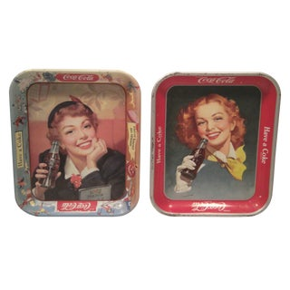 1950 & 1953 Original Coca Cola Trays