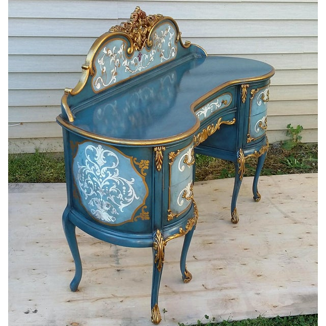 Hand-Painted French Desk - Image 4 of 10