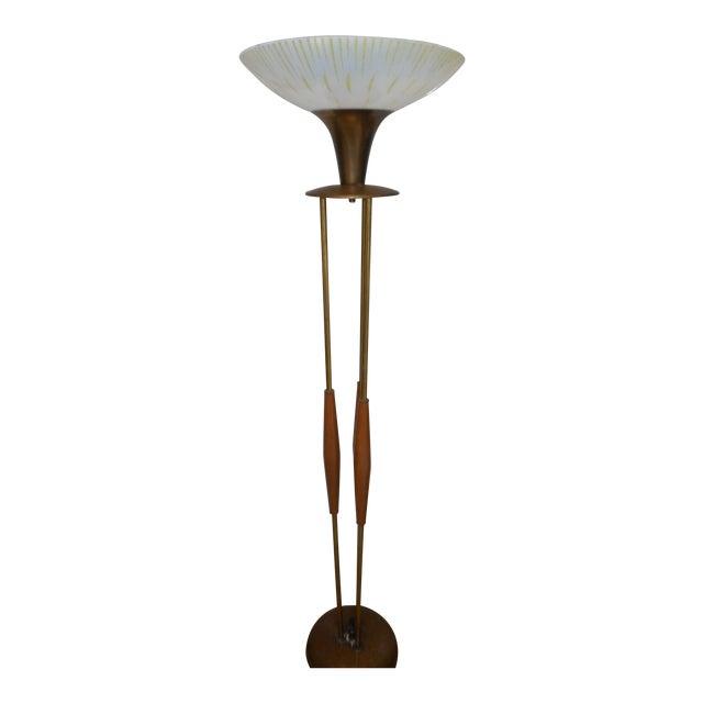 Gerald Thurston Mid Century Walnut Floor Lamp - Image 1 of 8