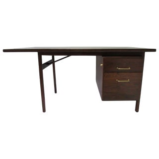 Mid-Century Walnut Executive Desk
