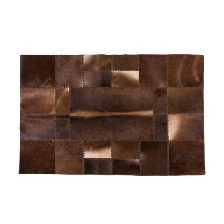 """Aydin Cowhide Patchwork Accent Area Rug 