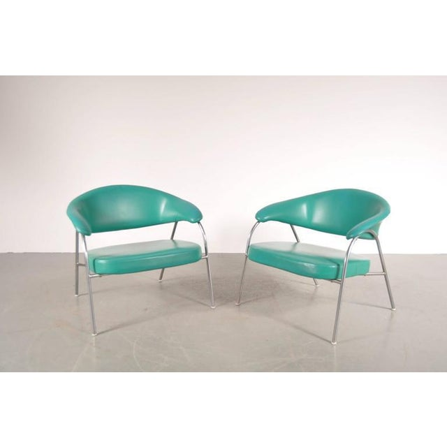 Pair of Rare Easy Chairs Produced by Arflex, Italy, circa 1960 - Image 3 of 7