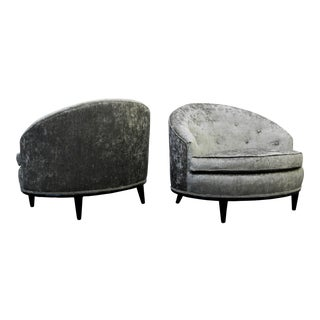 Mid-Century Barrel Back Slipper Chairs - A Pair