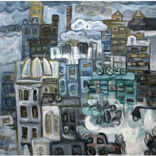 Gao Ping Urban Landscape Oil Painting
