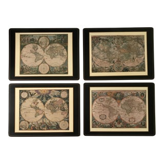 Pimpernel Old World Maps Placemats - Set of 4