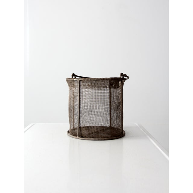 Vintage Wire Mesh Bucket With Handle - Image 3 of 8