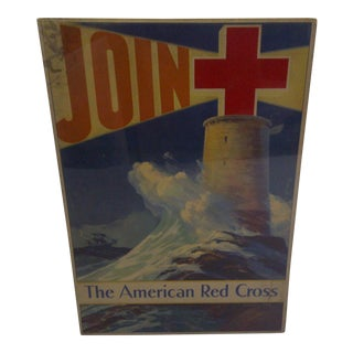 Vintage WWII American Red Cross Poster