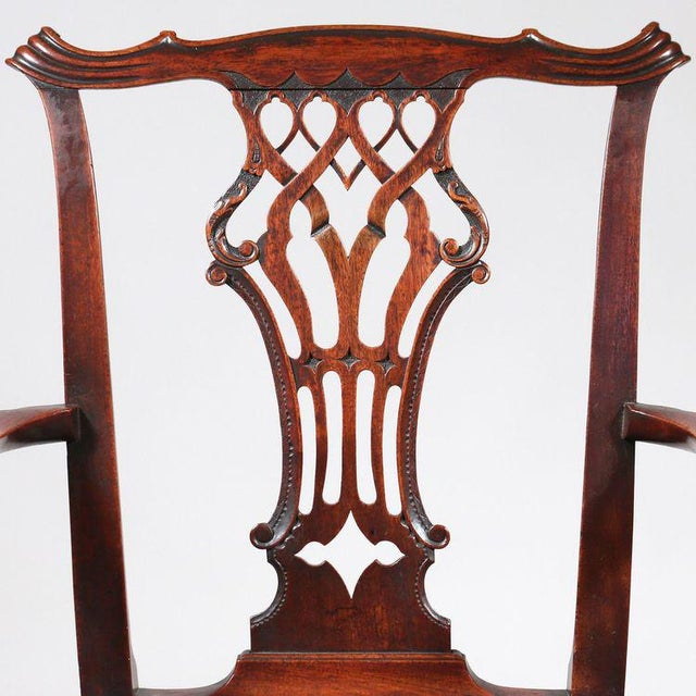 George III Mahogany Armchair - Image 4 of 8
