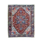 "Image of Antique Persian Heriz Rug - 8' 10"" x 11' 2"""