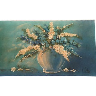 Mid-Century Vase and Flowers Painting