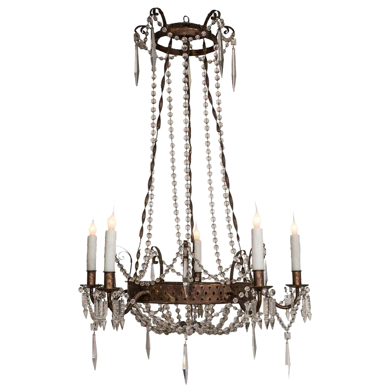 Exceptional Early 19th Century Italian T 244 Le And Crystal