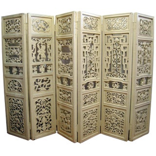 Antique Chinese Carved Room Divider
