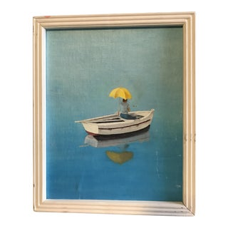 Charming Contemporary Sailboat Scene Painting