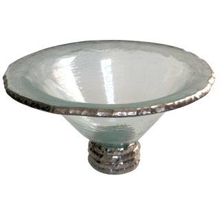 "Annieglass ""Edgey"" Glass Trophy Bowl"