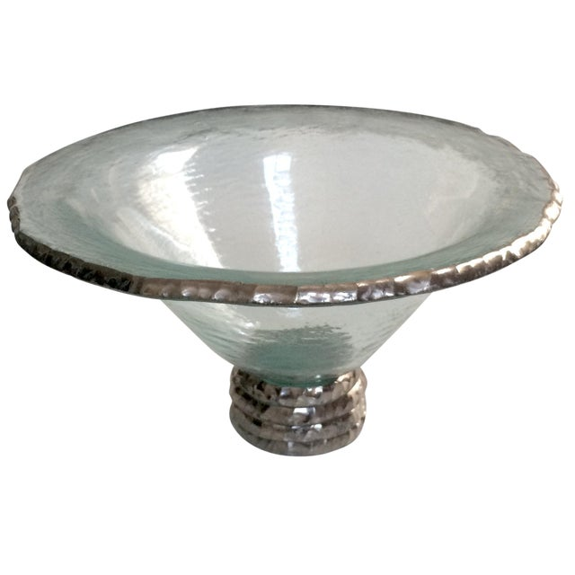 "Image of Annieglass ""Edgey"" Glass Trophy Bowl"