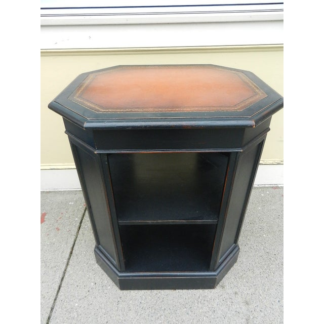 Leather Top End Table Bookcase - Image 3 of 5