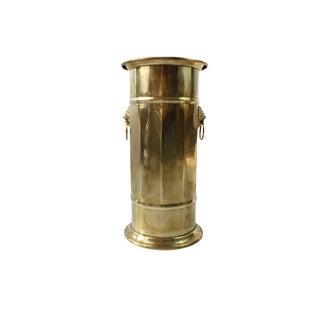 Hollywood Regency Brass Umbrella / Cane Stand