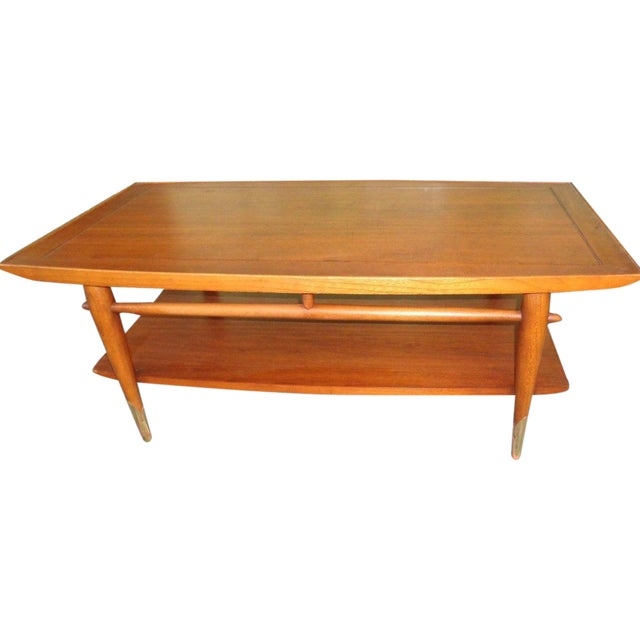 Mid Century Lane Copenhagen Drop Leaf Coffee Table: Circa 1958 Lane Danish Modern Coffee Table #861