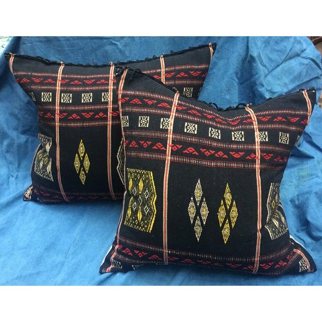 Burmese Chin Tribal Textile Pillows - A Pair - Image 2 of 7
