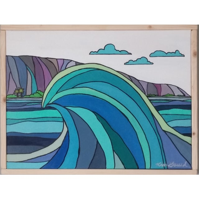 "Wave Painting - ""Wave and Beach"" - Image 1 of 5"