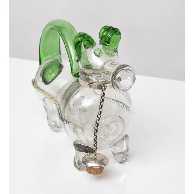 Dual Tone Glass Dog Decanter - Image 6 of 9