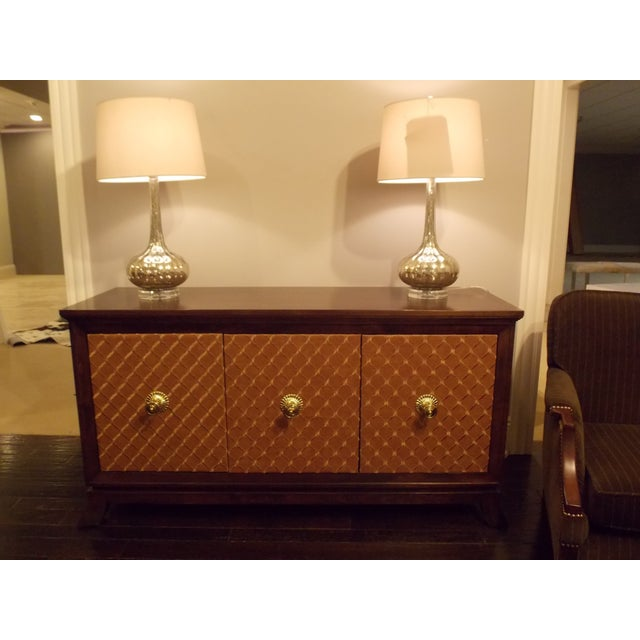 Mid-Century Styles Fabric Panel Buffet - Image 3 of 8