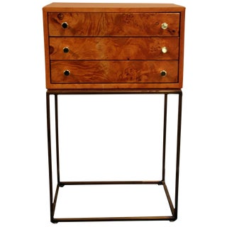 Milo Baughman 3 Drawer Jewelry Chest