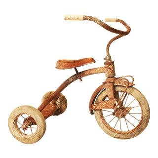 Vintage Rustic Metal Child's Tricycle