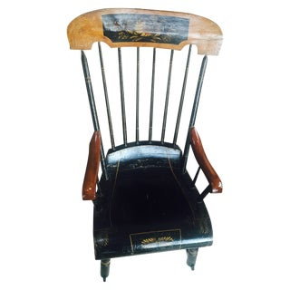 Early American Hitchcock Rocking Chair
