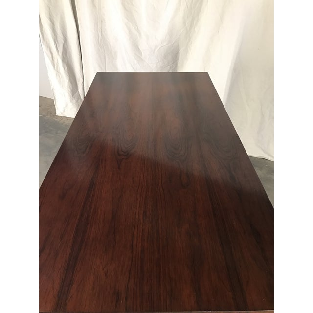 Ed Wormley Rosewood English Oak Desk - Image 7 of 11