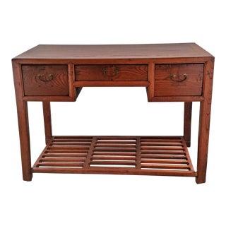 Antique Asian Elm Desk