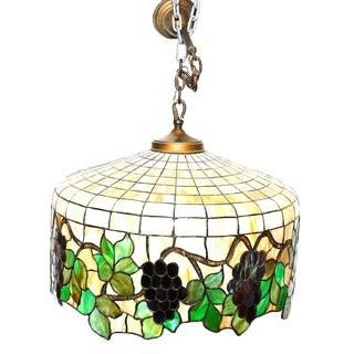 Vintage Tiffany Style Hanging Light
